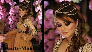captivating diffe hairstyles for indian brides about wedding makeup arabic look with touch plete hair and