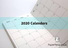 Plain Calendar 2020 2020 Monthly Calendar Midori Insert Regular A5 B6 Wide A6