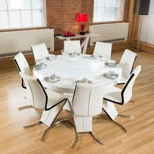 white round dining table gl top brown laminated wooden