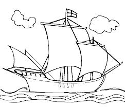 Boot Kleurplaten Pinta Colombus