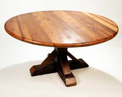 Salvaged Wood Round Dining Table