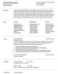 21 Free Financial Manager Resume Samples Sample Resumes
