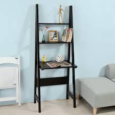 Sobuy Bücherregal Mit Schreibtischwandregalleiterregal Standregalfrg60 Sch