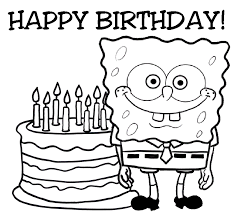 Small Picture Spongebob Happy Birthday Coloring Pages Coloring Home