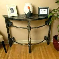 fabulous half round console table half round console table half circle table half circle end table