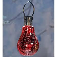 hanging solar lights plow hearth mercury glass light bulb