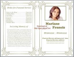 Funeral Programs Samples Stunning Free Editable Funeral Program Template Best Of Memorial Brochure