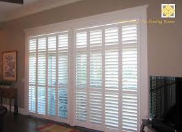 Kitchen Shutter Doors Sliding Door Window Treatment Less Formal But General Idea