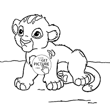 Small Picture Little Lion Simba animal coloring page for kids animal coloring