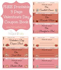 printable valentine s day coupon book the frugal fairy