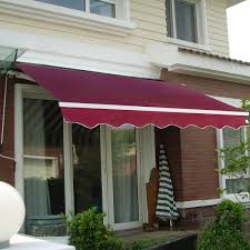 com goplus manual patio 8 2 6 5 retractable deck awning sunshade shelter canopy outdoor burdy garden outdoor