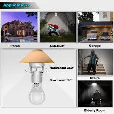 Motion Sensor Light Lamp Socket Adapter For Led Light Lamp Base Holder Smart Radar Motion Sensor Holder E26e27 To E26e27 Lamp Bulb Adapter For