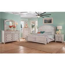 Sedona 9 Drawer Antique Cobblestone White Dresser With Mirror