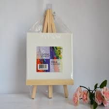 wooden table easel artist canvas painting display frame photo holder