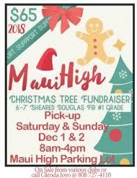 Christmas Tree Sale - Maui High School