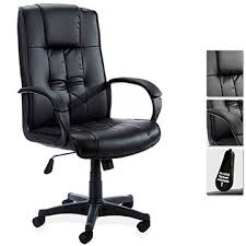 office leather chair. Ergonomic Comfy Home Office Leather Chair In All Black