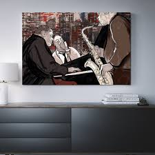 jazz trio ians abstract framed wall art jazz metal royal crown pro players x abst