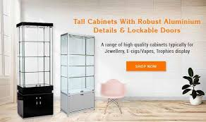glass display cabinets retail