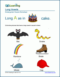 Phonics and phonological awareness are reinforced. Long Vowel Worksheets For Preschool And Kindergarten K5 Learning