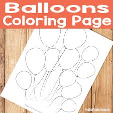 It helps to develop motor skills, imagination and patience. Balloons Coloring Page For Kids Trail Of Colors