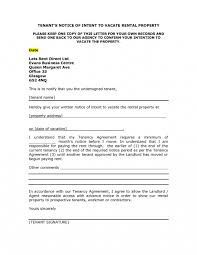 Rent Notice Letter Sample Landlord Notice Letter To Tenant Template Examples Letter Cover