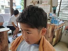 子供ツーブロック来店したお客様のヘアスタイル銀座バーバー与野国道