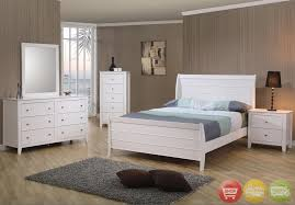 Details about Selena Twin White Wood Panel Bed 4 pc Contemporary Kids Bedroom Furniture Set