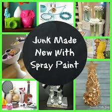 junk made new with spray paint
