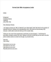 letter of job acceptance 56 acceptance letters