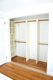 replace closet doors with curtains closet after removing doors and central divider replace bifold closet doors
