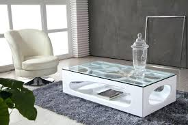 coffee table  see u table modern coffee design with glass by