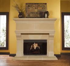 image of um cast stone fireplace