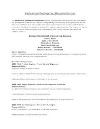 Mechanical Engineering Resume Format Production Engineering Resume