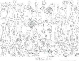Coloring Pages Of Waves Ocean Coloring Pages For Adults Sea Life