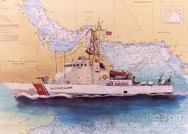 Uscg Wrangell Cathy Peek Nautical Chart Map Art