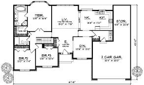3 Bedroom Floor Plans  Monmouth County Ocean County New Jersey House Plans Ranch