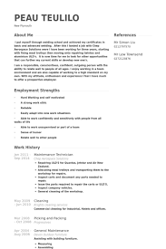 maintenance technician resume samples visualcv resume samples free creative  resume templates - Maintenance Sample Resume