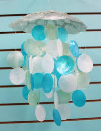 beach wind chimes turquoise white shell chimes sea glass wind chimes craft