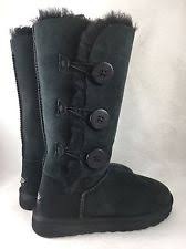 Ugg Bailey Button Triplet Triple Button 1873 Women s Boots Black Classic  Tall