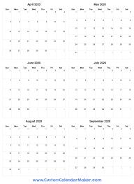 Free Printable April Calendar 2020 April To September 2020 Calendar Free Printable Pdf