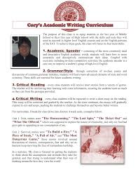 academic writing for middle school students asian debate league  cory s writing curriculum page 1