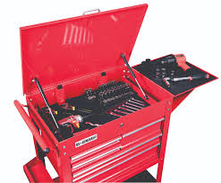 us general 13 drawer tool box. 30 in. 5 drawer glossy red tool cart action shot us general 13 box