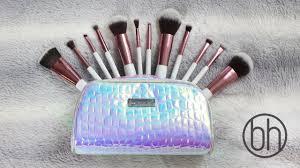 new bh cosmetics crystal quartz brush review demo parisons