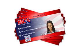 professional mca business card design front back