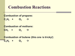 28 combustion reactions combustion of propane c3h8