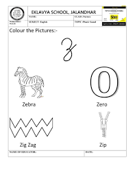 Other than teaching phonics sounds, another great feature of these flashcards is that each letter sits on a line, helping kids to recognize how to write letters like g, j, q, and y. Worksheet On Phonic Sound Z Kindergarten Worksheets Preschool Math Worksheets Phonics Sounds