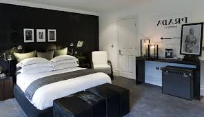 Mens Bedroom Charming Mens Bedroom Ideas Also Double Bed And White Pillows And