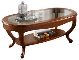 golen oval glass top solid wood coffee table traditional coffee tables by the collection german furniture
