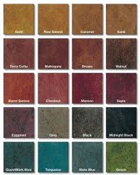 Concrete Stain Chart Stained Polished Concrete Color Chart Painting Concrete