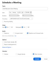 Group Scheduler How Do I Schedule Meetings Zoom Help Center